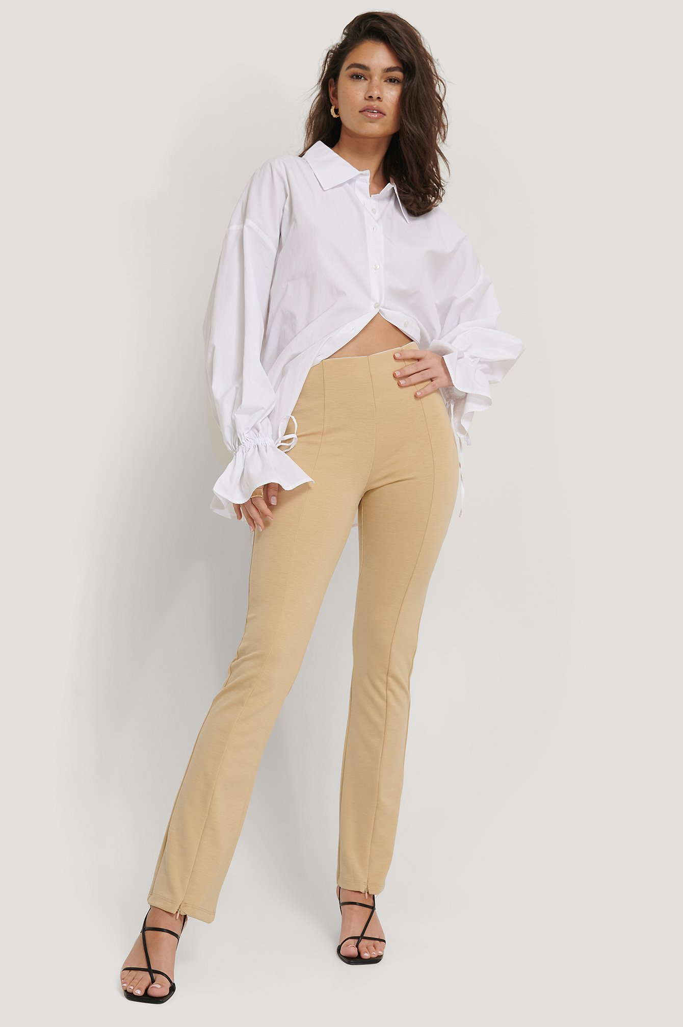 sisters point -  Pipi Pants - Beige
