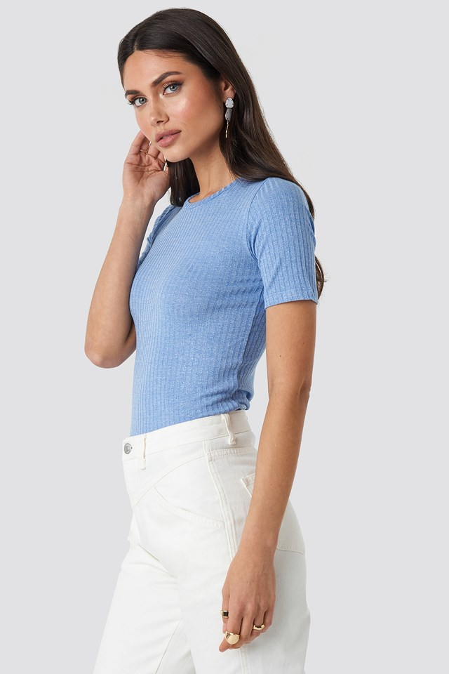 Pro-Short Sleeve Top Blue Bell Melange