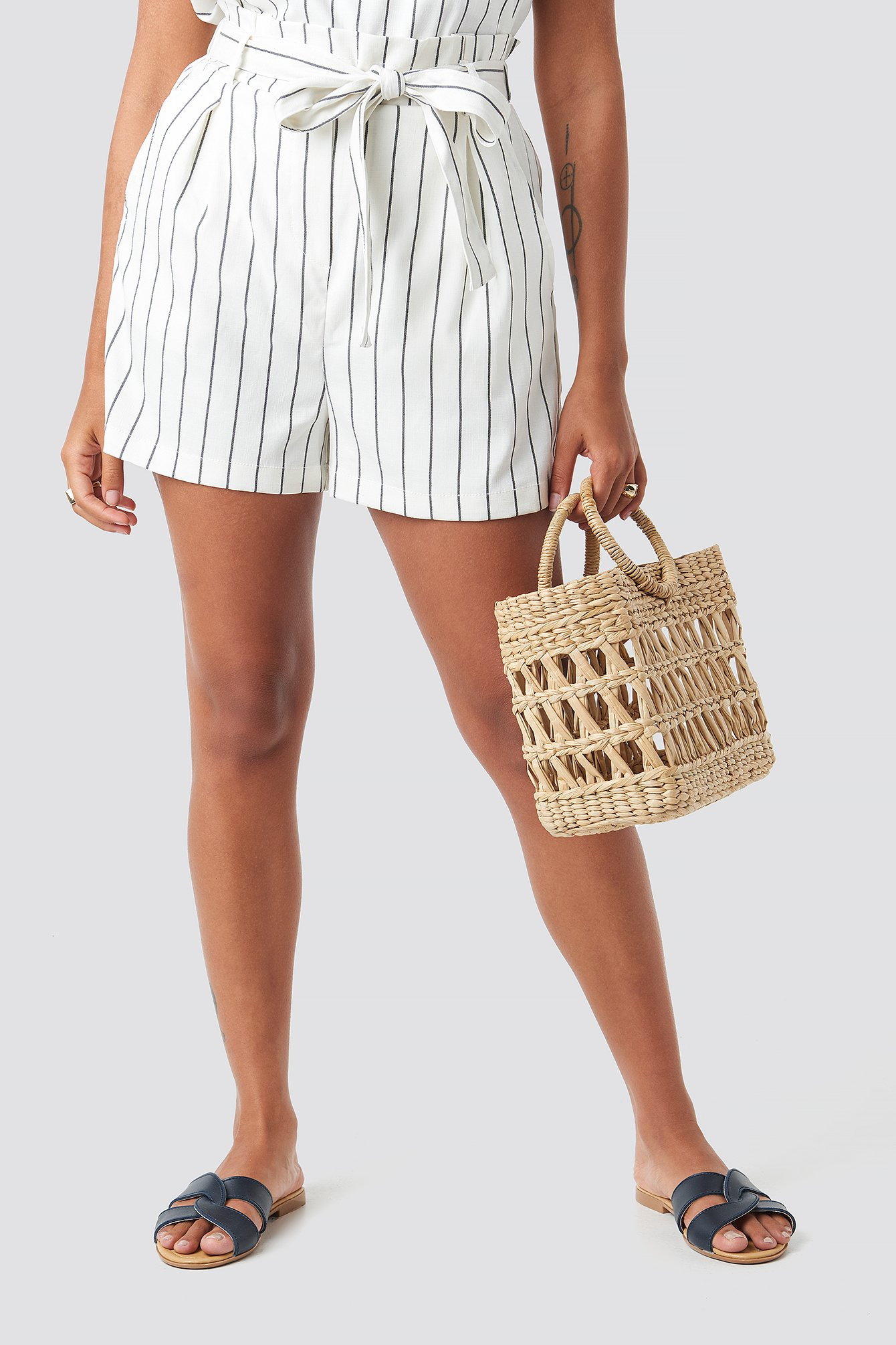 Cream/Black Rex Shorts