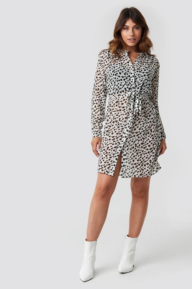 Valsi Dress Cream Leo Dot