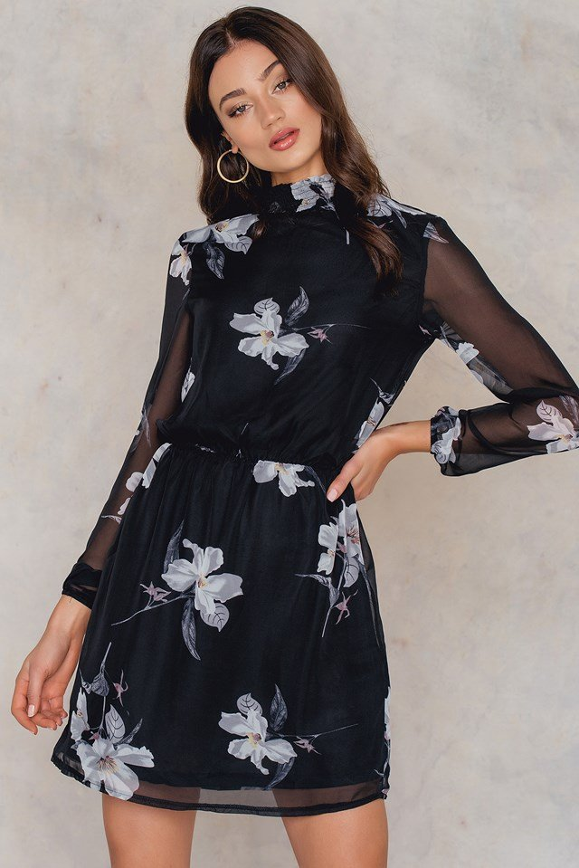 Voma Dress Black Flower