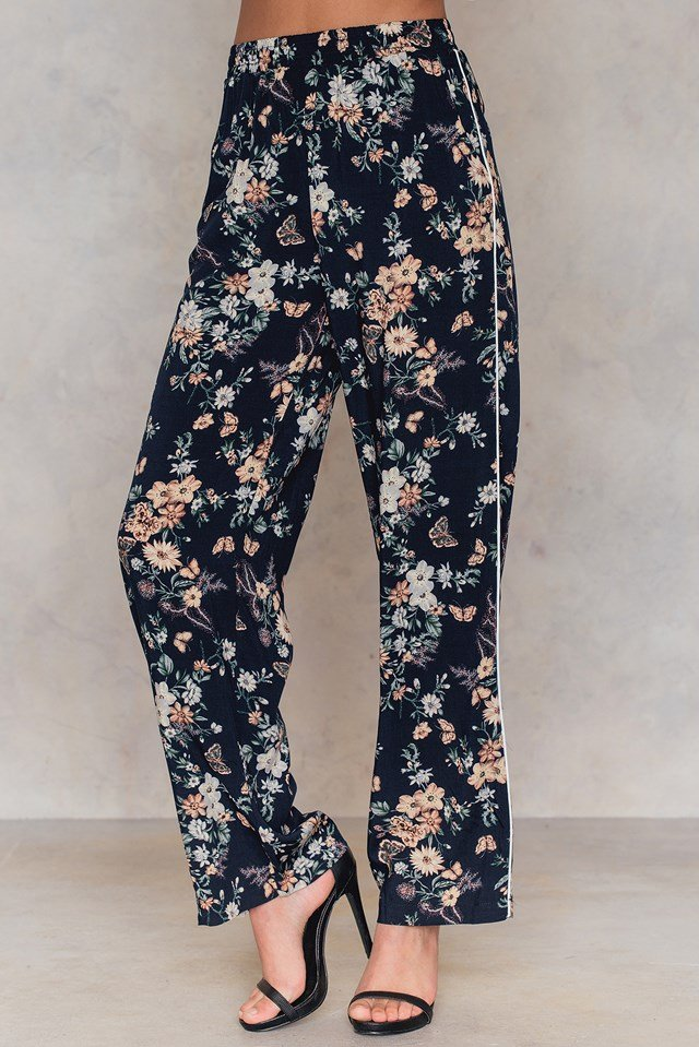 Vonda Pants Navy Flower