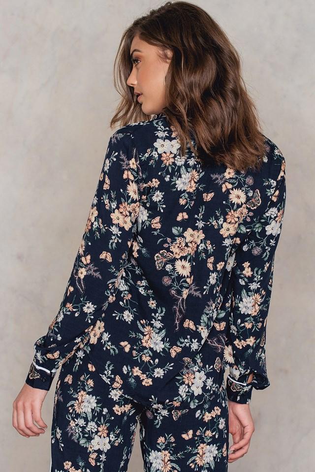 Vonda Shirt Navy Flower
