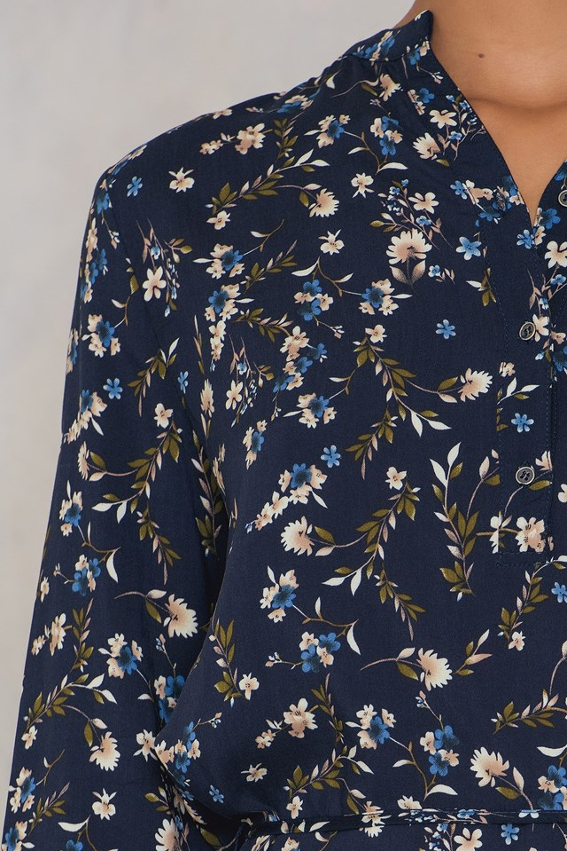 Vymi Dress Navy/Flower