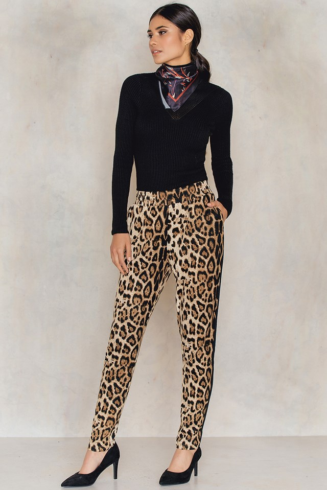 Spodnie Vips Animal/Black