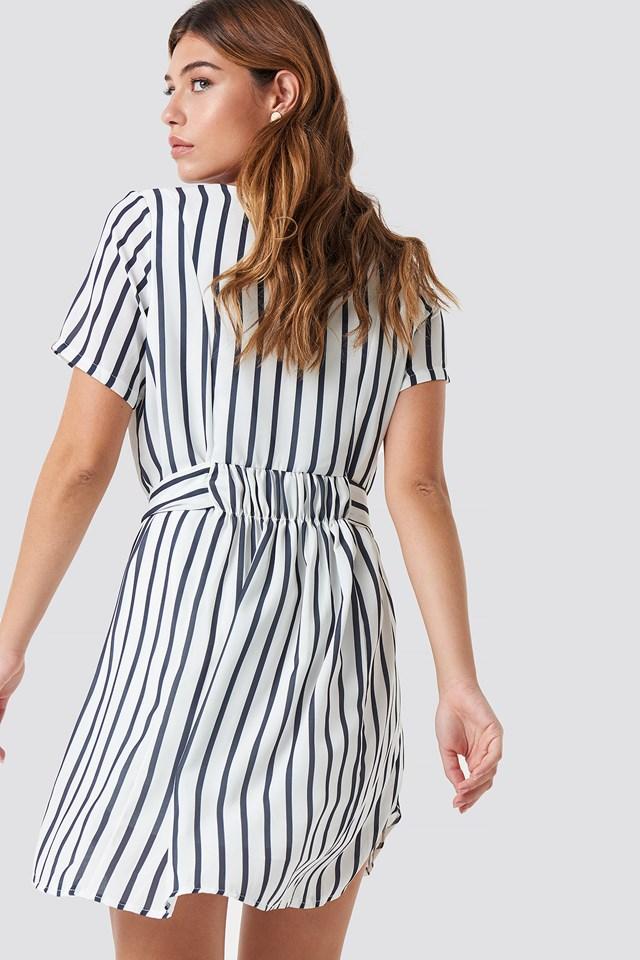 Lucy Dress Cream/Stripe