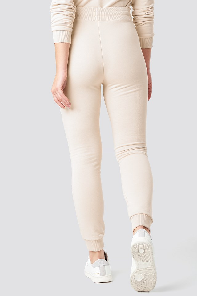 Slim Soft Sweatpants Beige