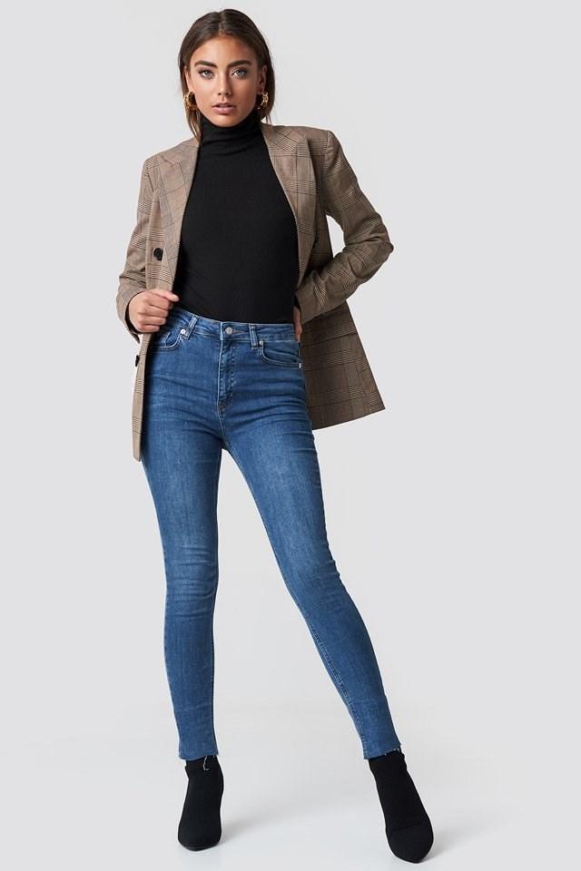 Skinny Jeans Blazer Outfit.