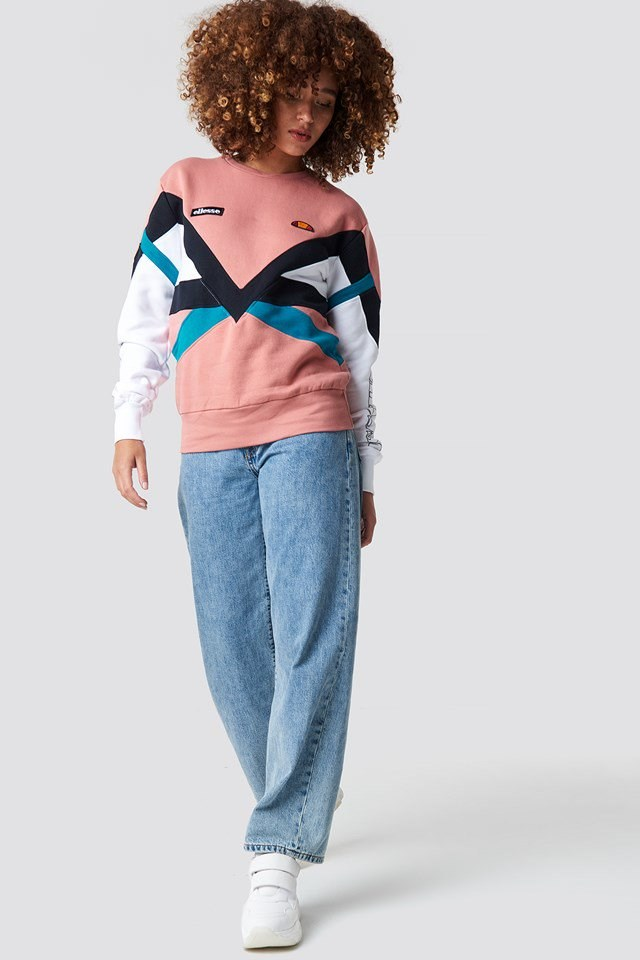 Multi colored Pink Sweatshirt.