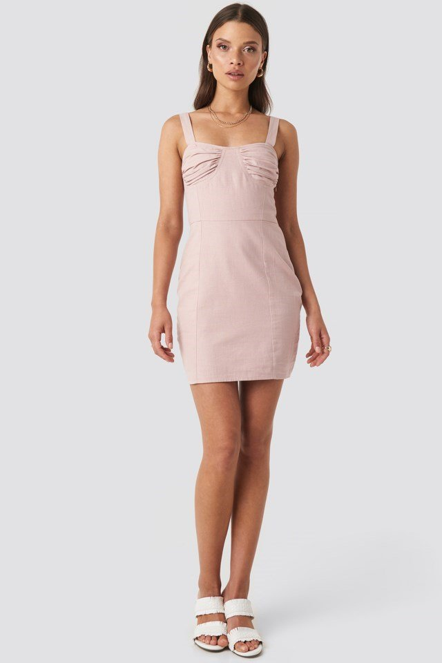 Jasmine Cup Dress Pink Outfit