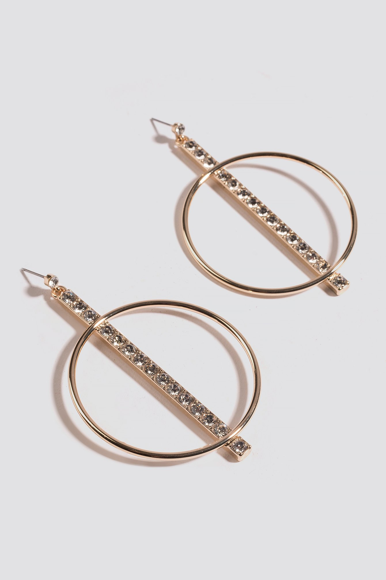 Sparkling Bar Hoop Earrings NA-KD.COM