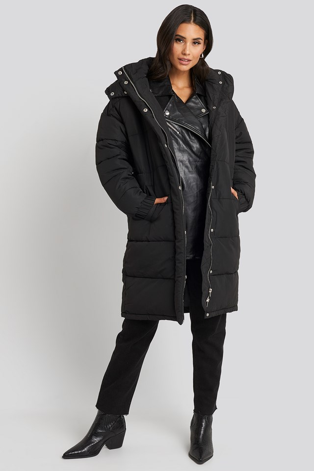 Amelia Long Coat Black