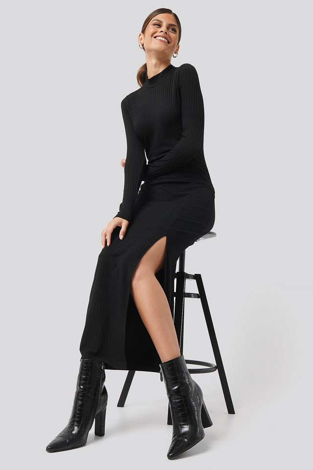 Caitlin Long Dress Black