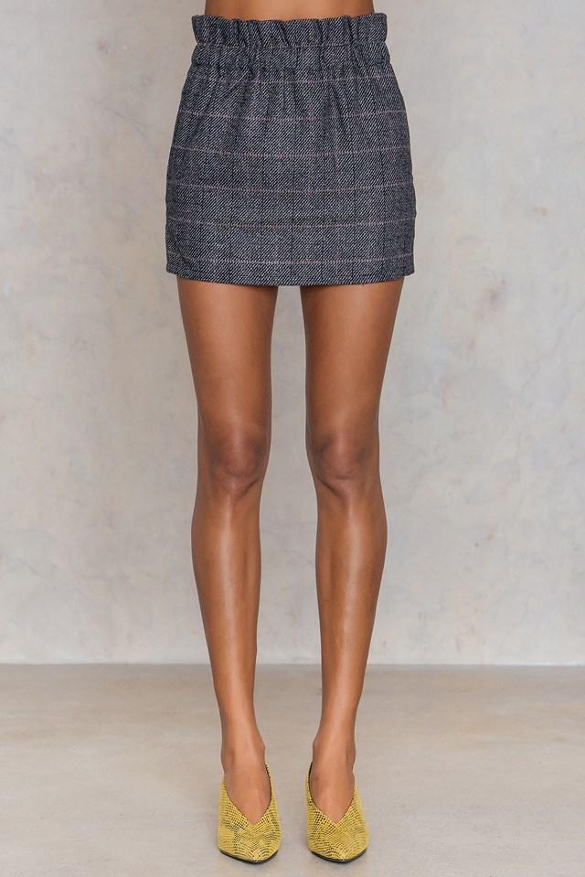 Lenna Skirt Charcoal Melange