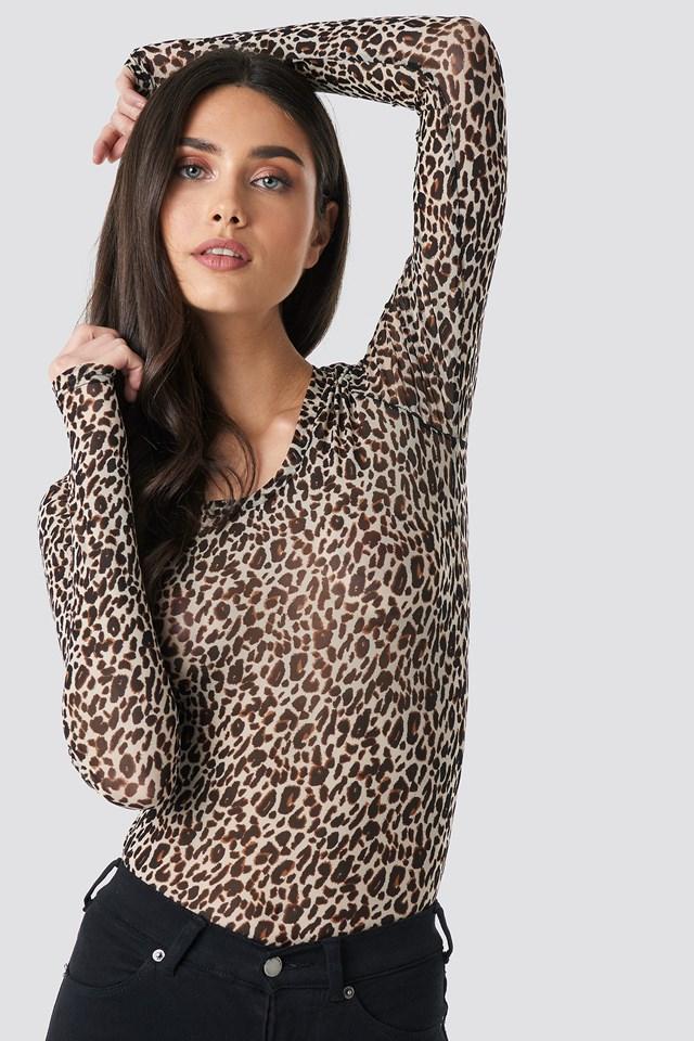 Petunia Top Leopard