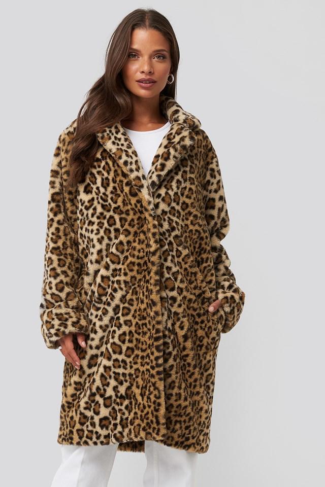 Rhonda Leo Coat Leopard