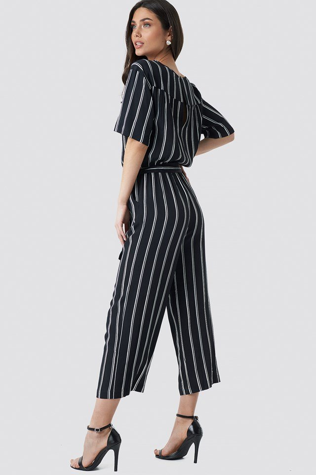 Tula Stripe Jumpsuit Black