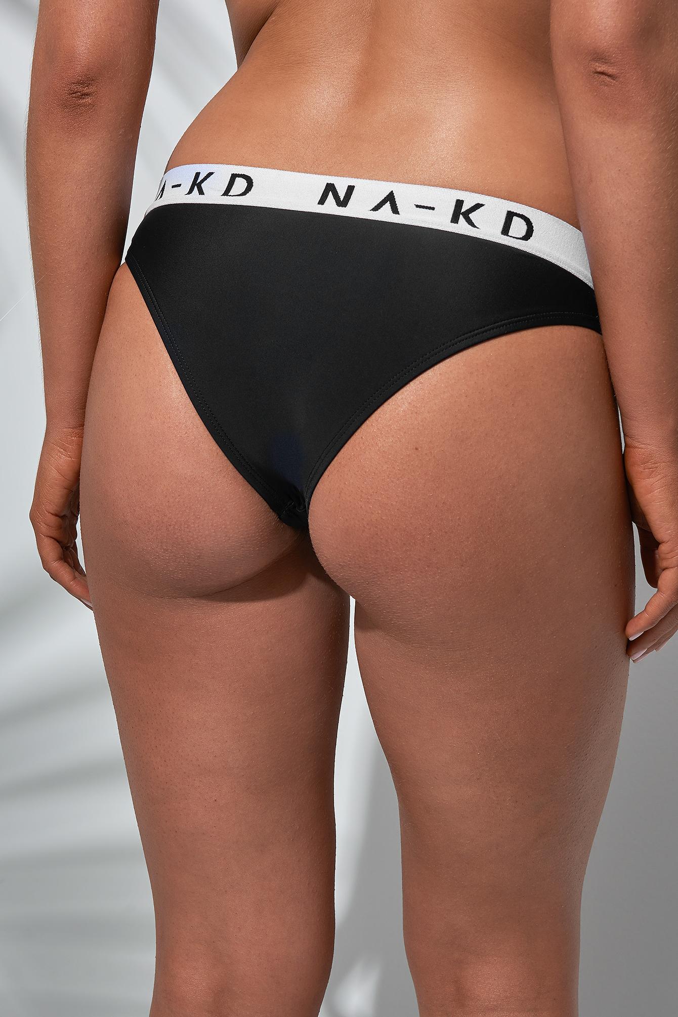 Sporty Logo Bikini Bottom NA-KD.COM