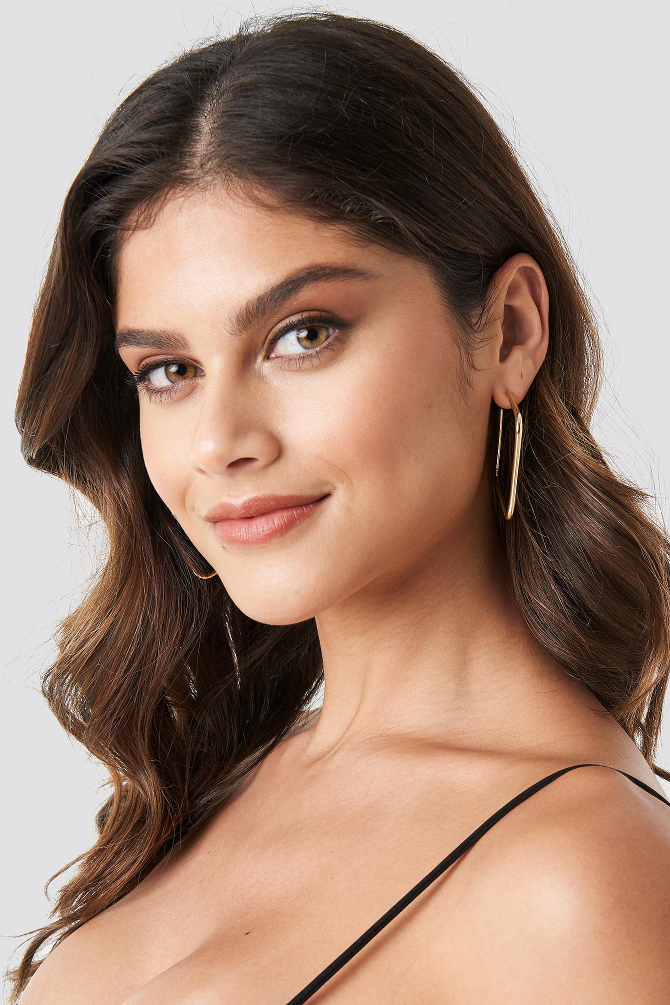 Squared Hoop Earrings NA-KD.COM