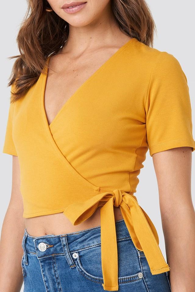 Denise Bobe Overlap Short Sleeve Top NA-KD.COM