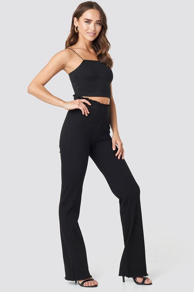 Erica Kvam Ribbed Pants Black