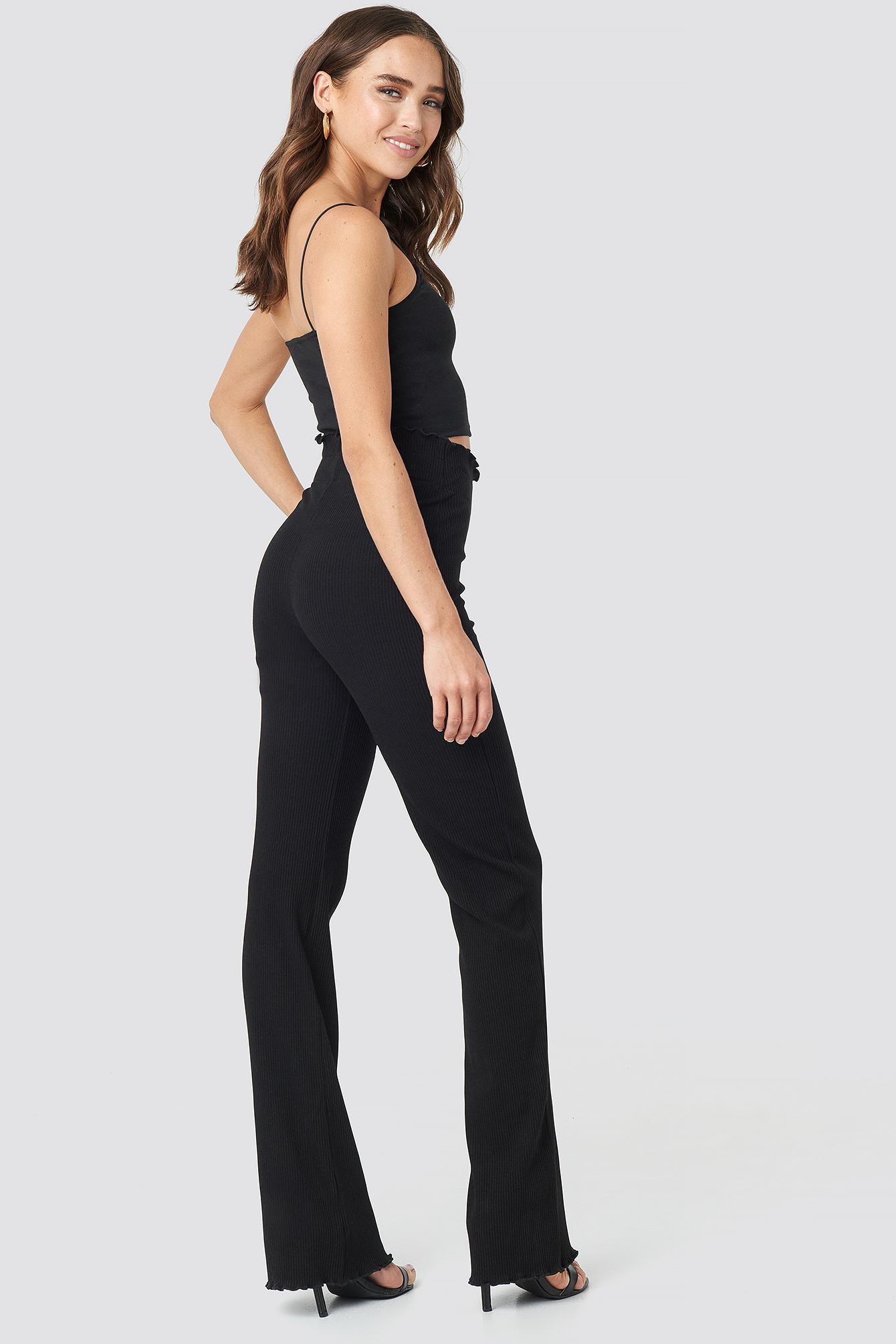 Erica Kvam Ribbed Pants NA-KD.COM