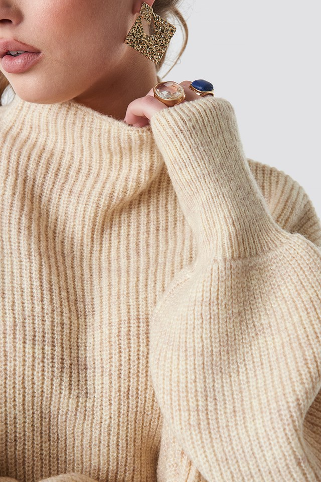 Jennifer Andersson Knitted Sweater Light Beige