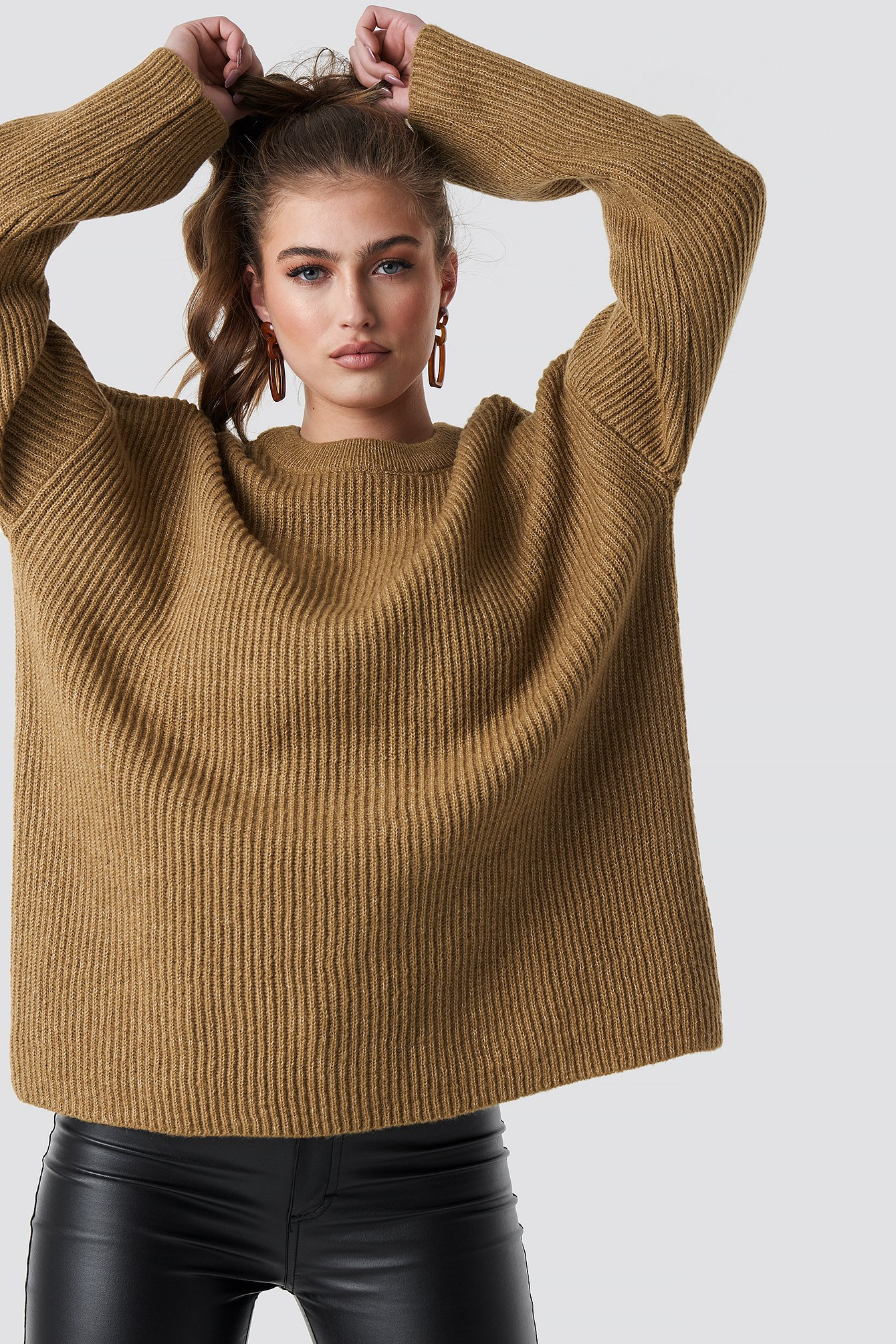 statement by na-kd influencers -  Katarina Juric Knitted Sweater - Beige
