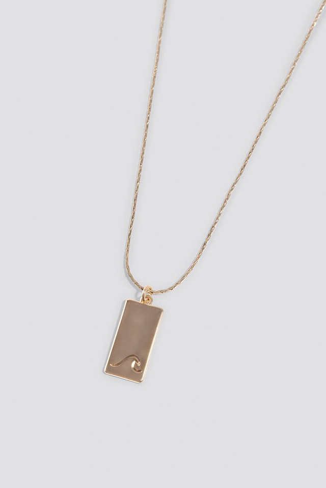 Matilda Djerf Wave Necklace Gold