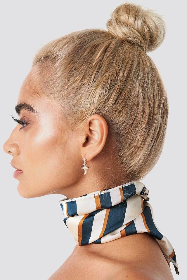 Sophia Phiaka Cross Earrings Transparent