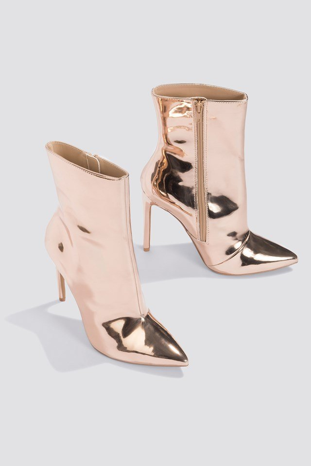 Wagner Dress Bootie Rose Gold