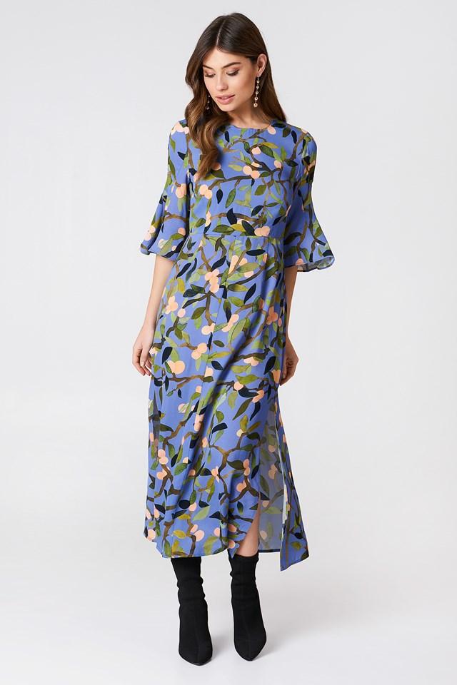 Kirsten Maxi Dress Peach Tree Blue