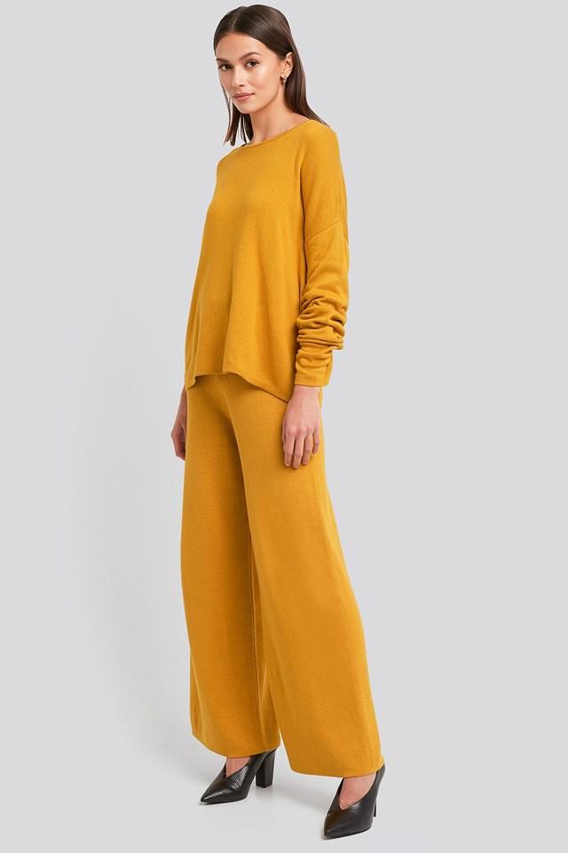 Lounge Round Neck Sweater Yellow