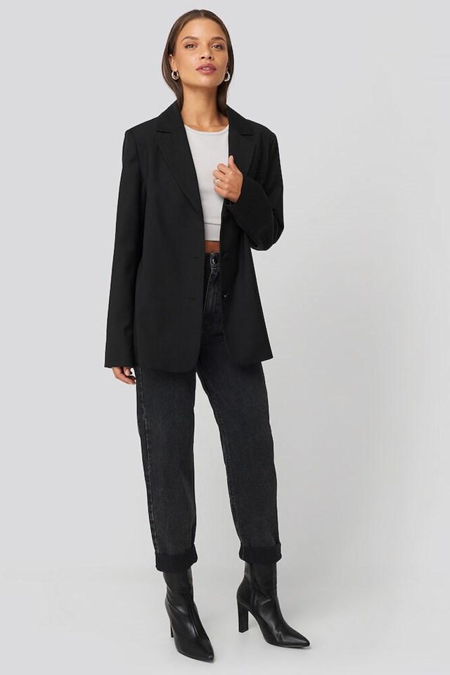 Oversized Straight Shape Blazer Outfit