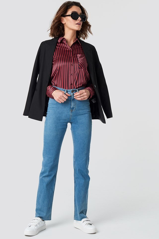 Casual Denim Pants Shirt Outfit