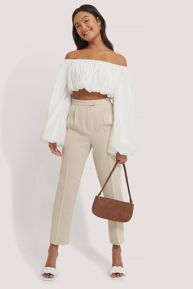 Cropped Darted Suit Pants