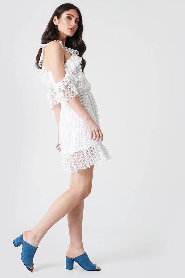 Cold Shoulder Frill Dress
