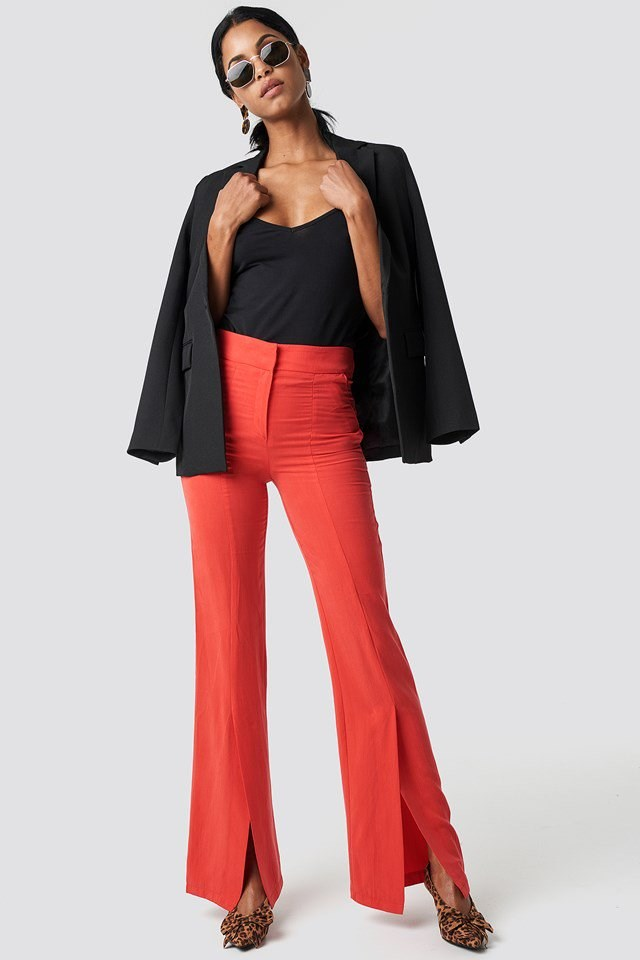 Front Slit Trousers with Classic Blazer