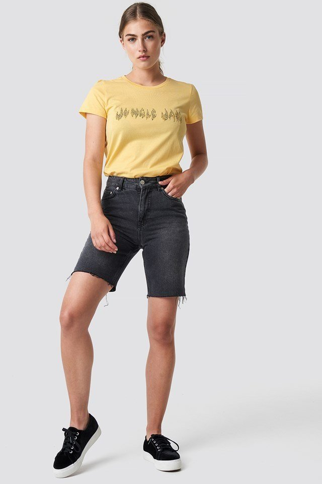 Graphic Tee with Bermuda Shorts