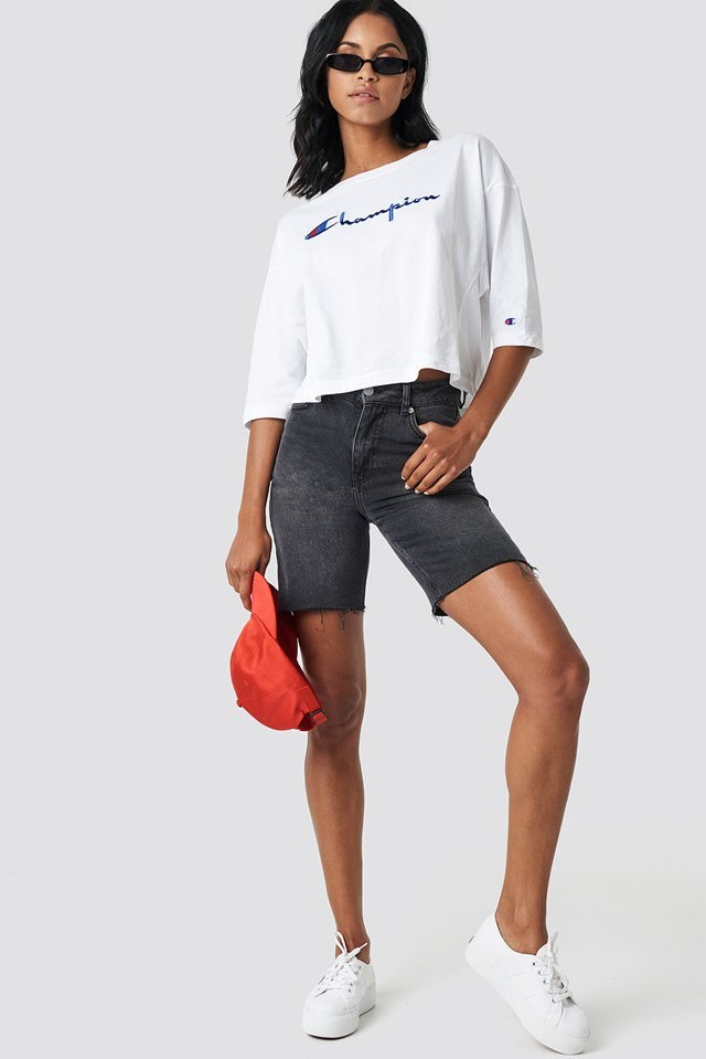 Script T-Shirt with Bermuda Shorts