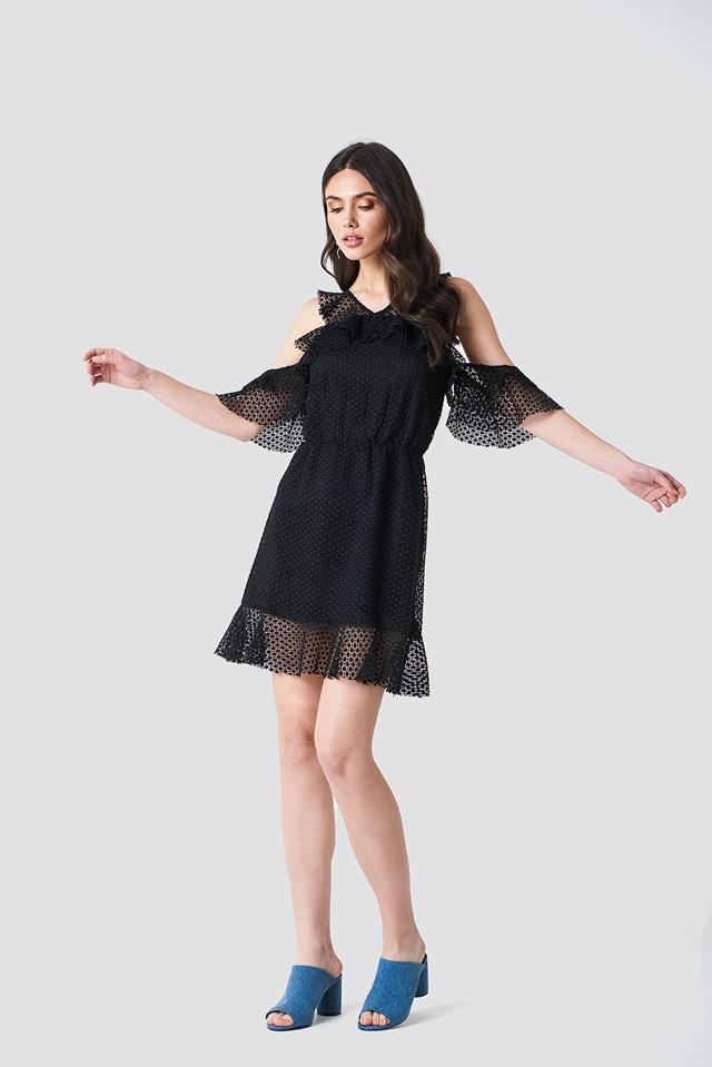 Little Black Dress with Ruffles