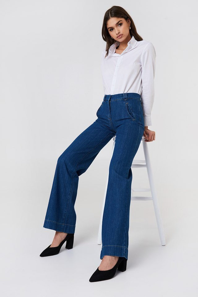 High Rise Flare Jeans Outfit