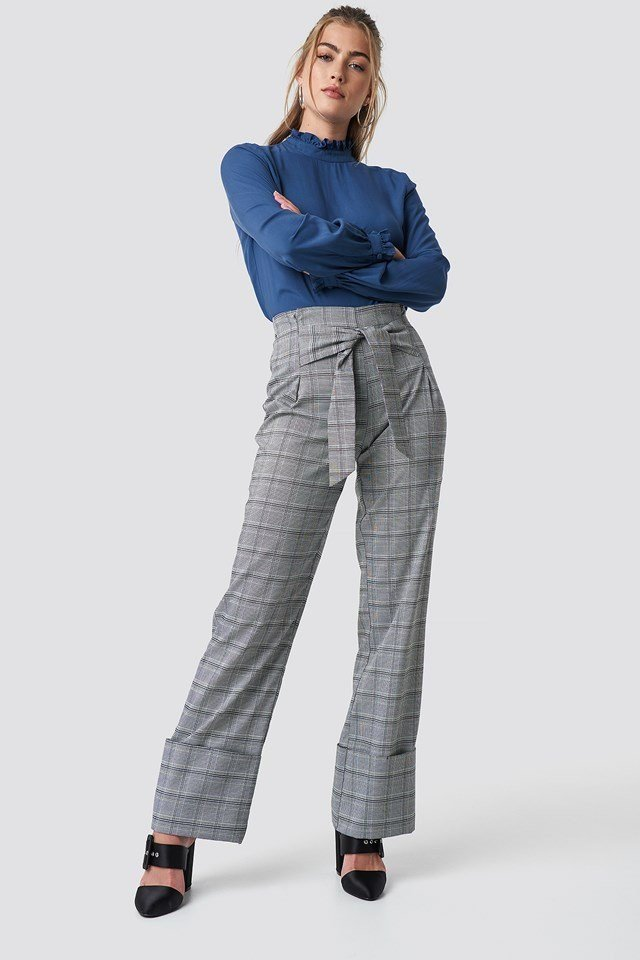 Long Sleeves with Tie Waist Trousers