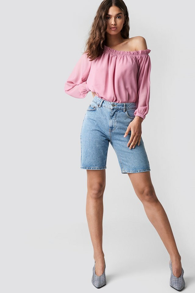 Off Shoulder Top with Bermuda Shorts