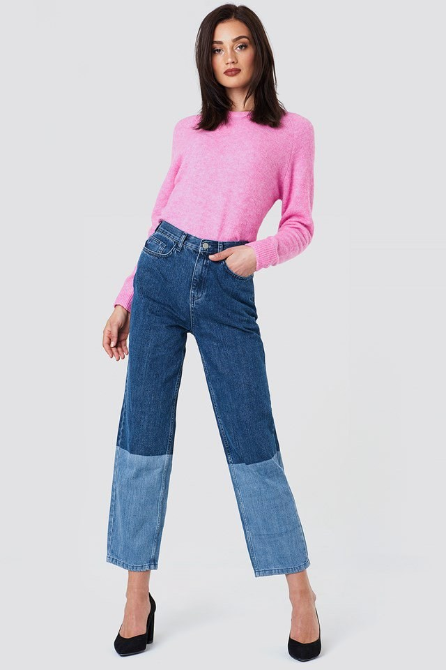 Blocking Denim Jeans Outfit