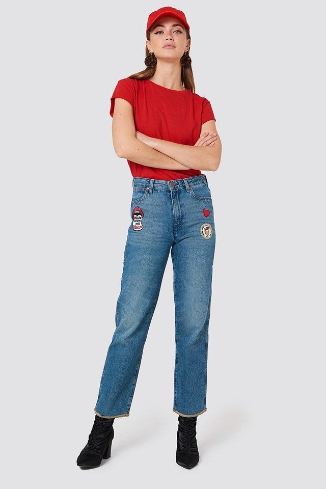 Retro Straight Jeans Outfit