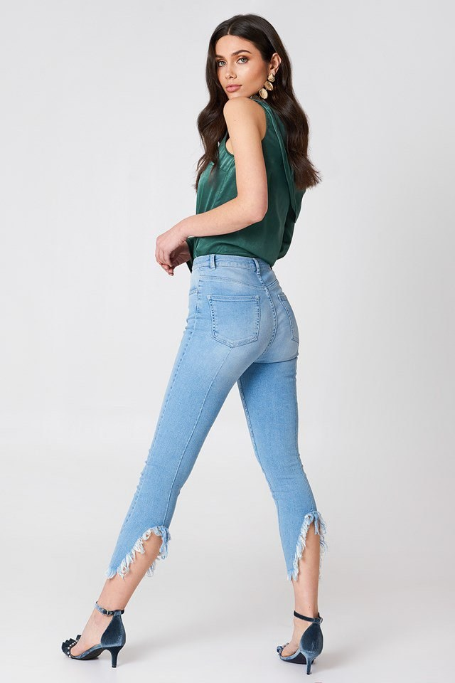 Slit Back Jeans Outfit