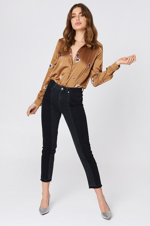 Wash Panel Jeans Outfit