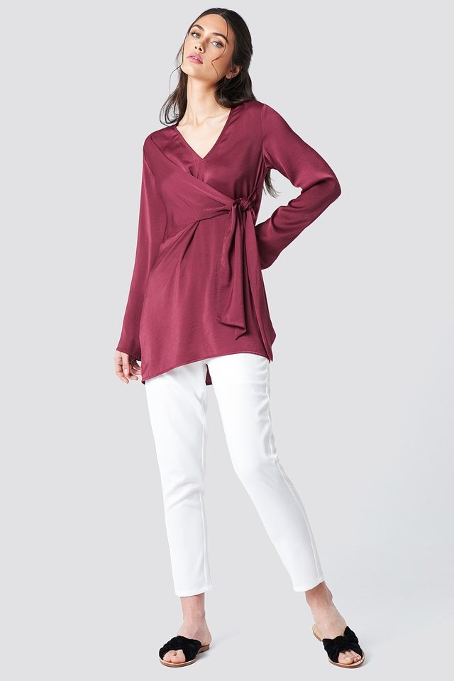 Tie Waist Blouse with Trousers