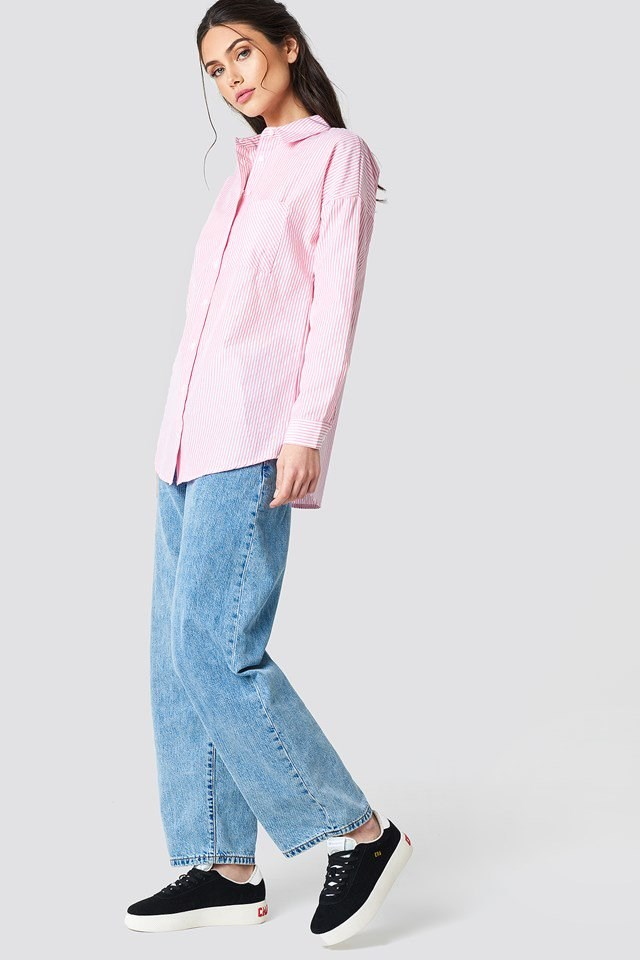Long Shirt with Baggy Jeans